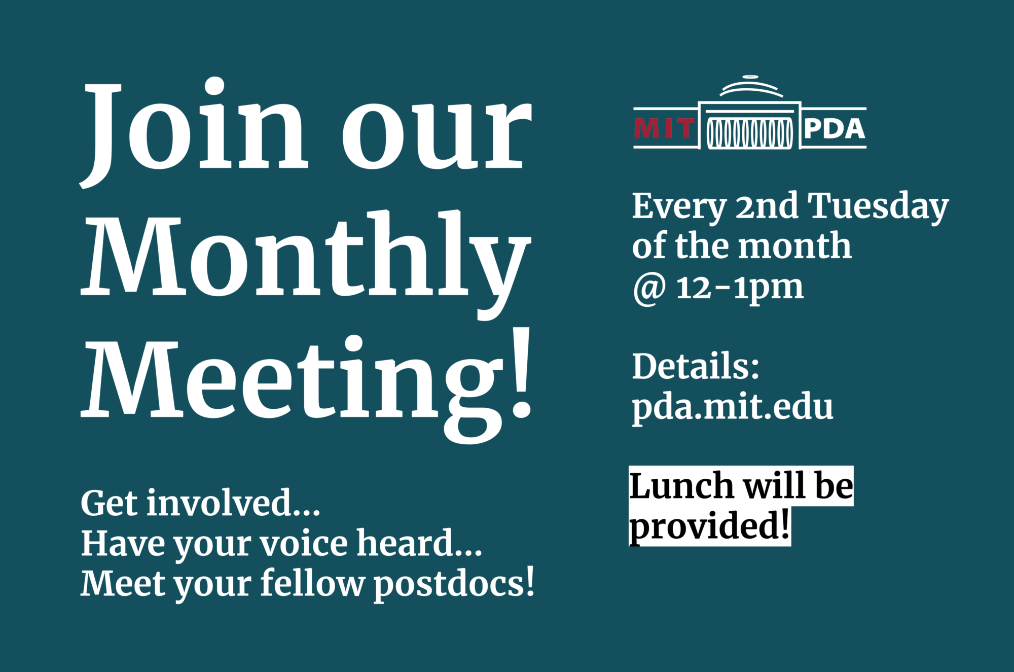 PDA Monthly Meeting