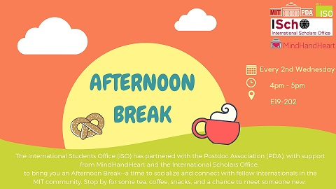 Afternoon Break – Every 2nd Wednesday of the month